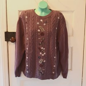 Northern Reflections large purple vintage sweater